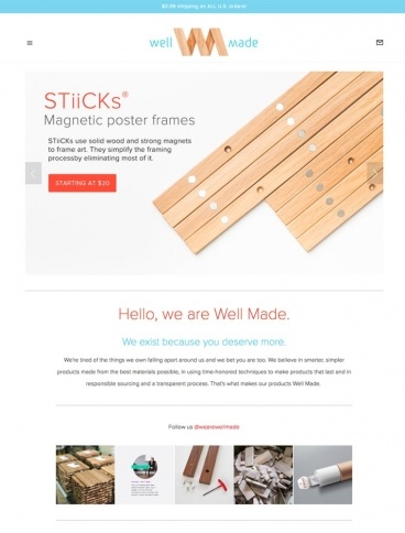 eCommerce website: Well Made