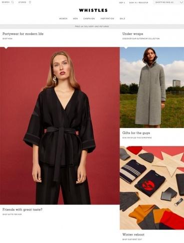eCommerce website: Whistles