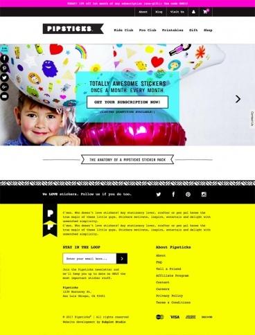 eCommerce website: Pipsticks