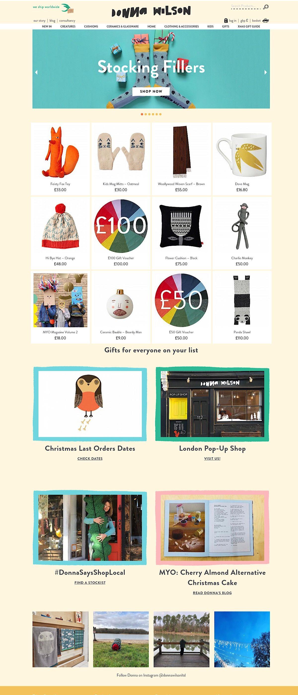 eCommerce website: Donna Wilson