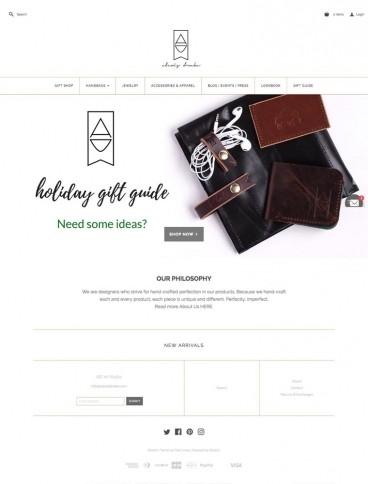 eCommerce website: Alexis Drake