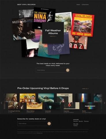 eCommerce website: Best Vinyl Records