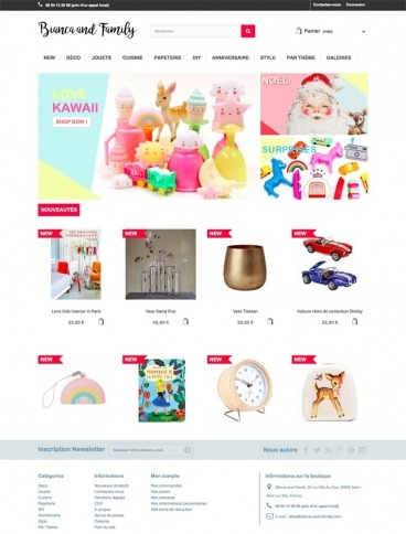 eCommerce website: Bianca and Family