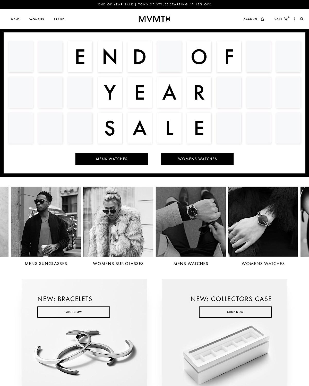 eCommerce website: MVMT