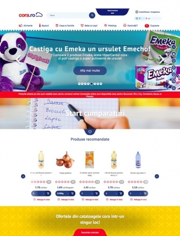 eCommerce website: Cora