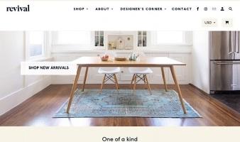 eCommerce website: Revival Rugs