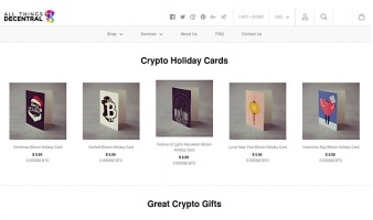 eCommerce website: All Things Decentral