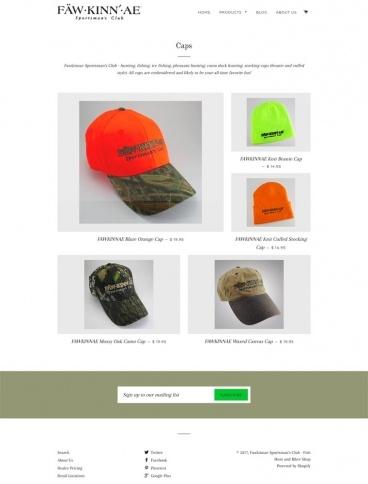 eCommerce website: Fawkinnae