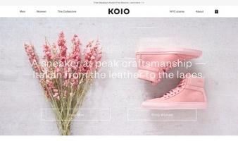 eCommerce website: KOIO