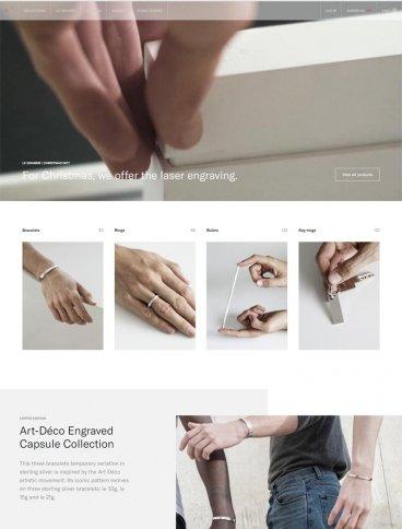 eCommerce website: Le Gramme