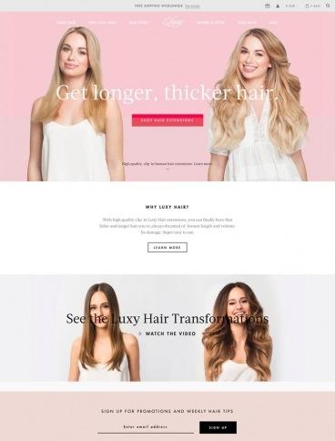 eCommerce website: Luxy Hair