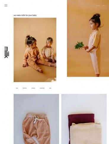 eCommerce website: Millk