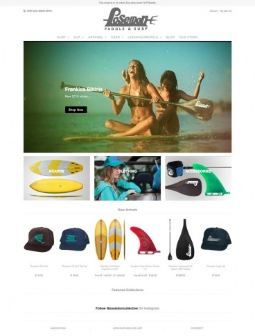 eCommerce website: Poseidon SUP