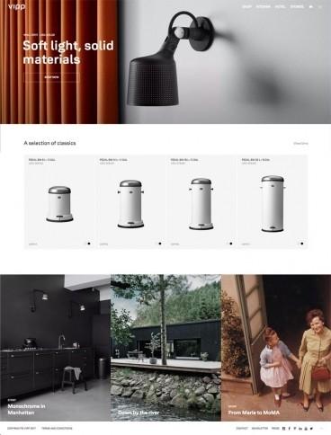 eCommerce website: Vipp