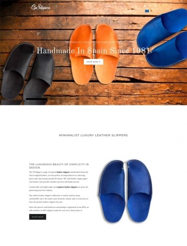eCommerce website: CP Slippers
