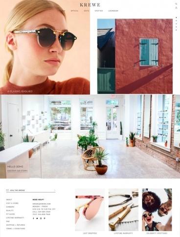 eCommerce website: Krewe Sunglasses