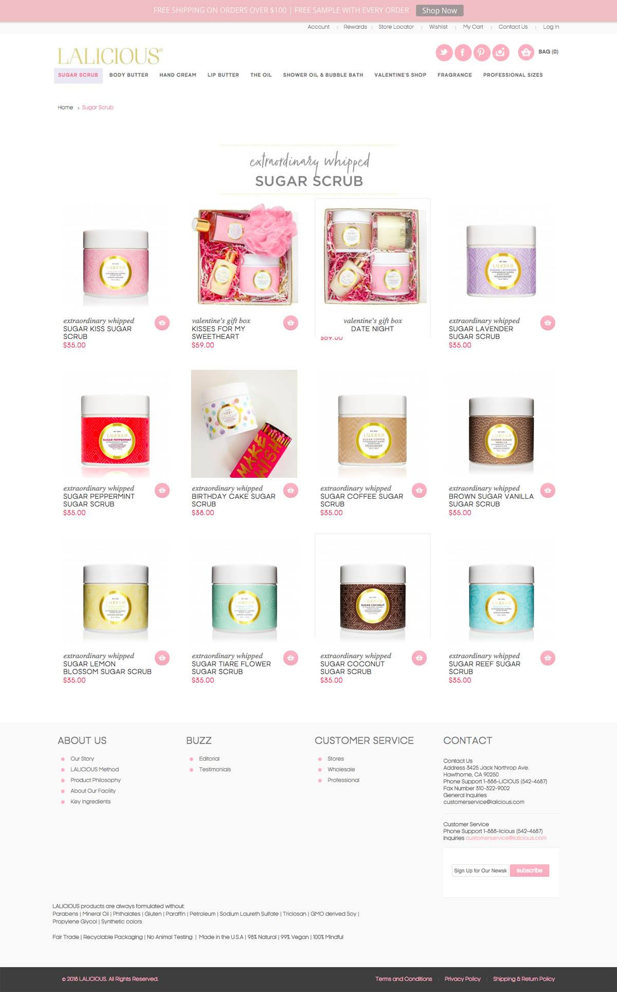 eCommerce website: LaLicious