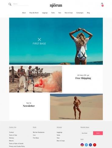 eCommerce website: Njorun Active