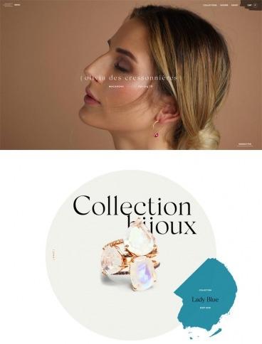 eCommerce website: Olivia des Cressonnnières