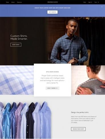 eCommerce website: Proper Cloth