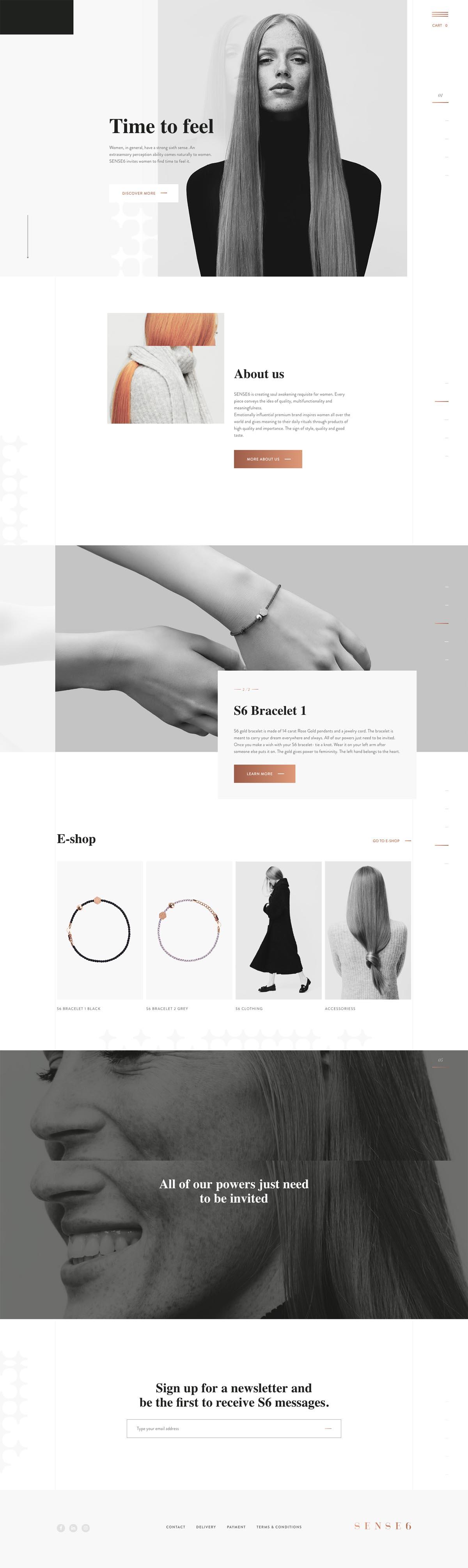 eCommerce website: SENSE6