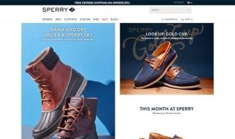 eCommerce website: Sperry