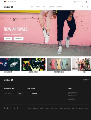 eCommerce website: Stance