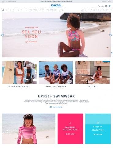 eCommerce website: Sunuva