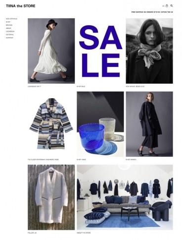 eCommerce website: TIINA The STORE
