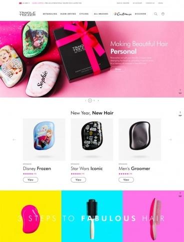 eCommerce website: Tangle Teezer