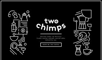 eCommerce website: Two Chimps Coffee