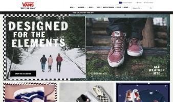 eCommerce website: VANS