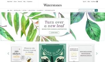eCommerce website: Waterstones