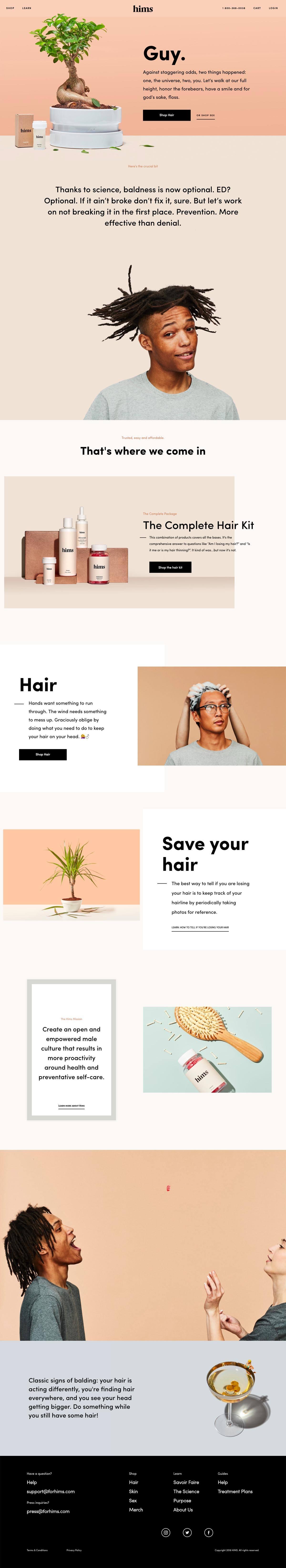 eCommerce website: hims