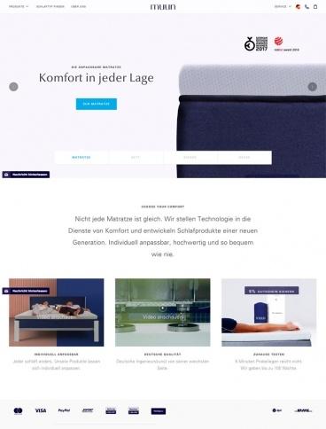 eCommerce website: muun
