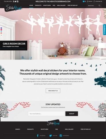 eCommerce website: Stickerbrand
