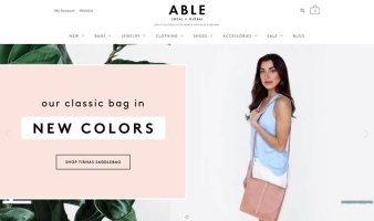 eCommerce website: ABLE
