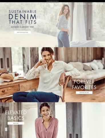 eCommerce website: Amour Vert