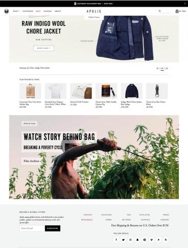 eCommerce website: Apolis