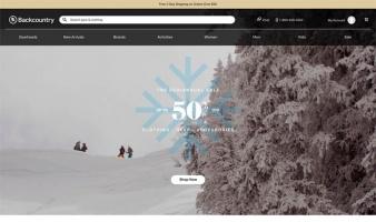 eCommerce website: Backcountry