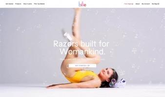 eCommerce website: Billie