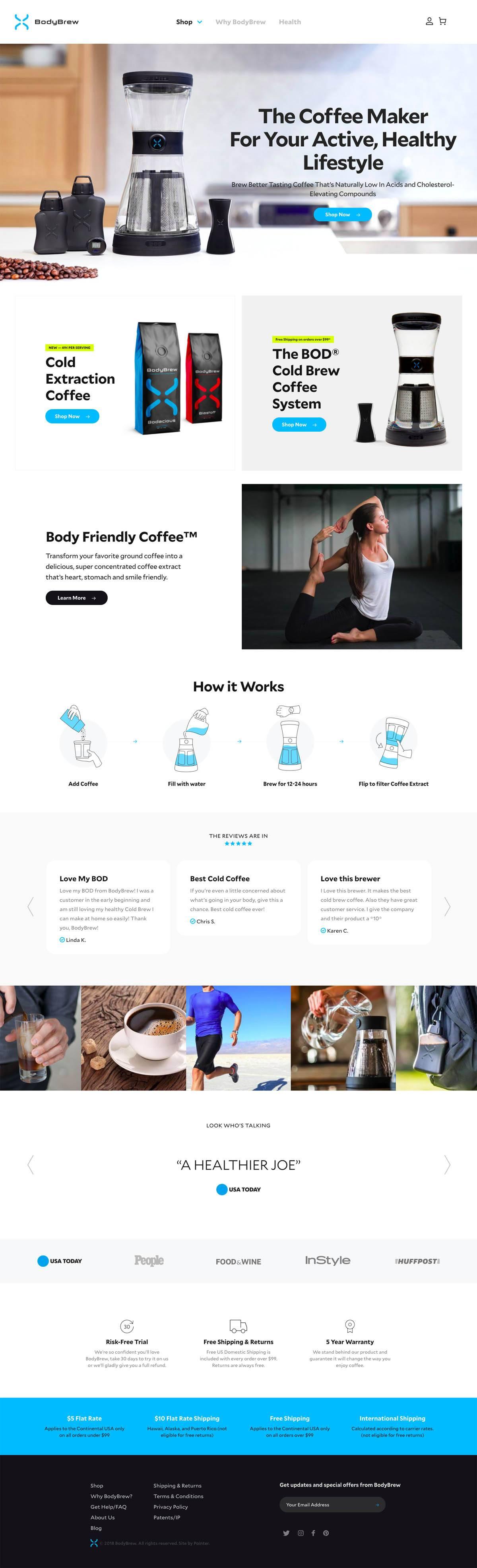 eCommerce website: BodyBrew