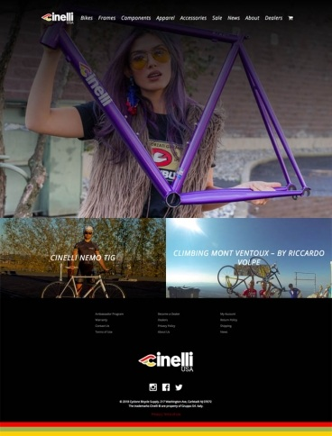 eCommerce website: Cinelli USA
