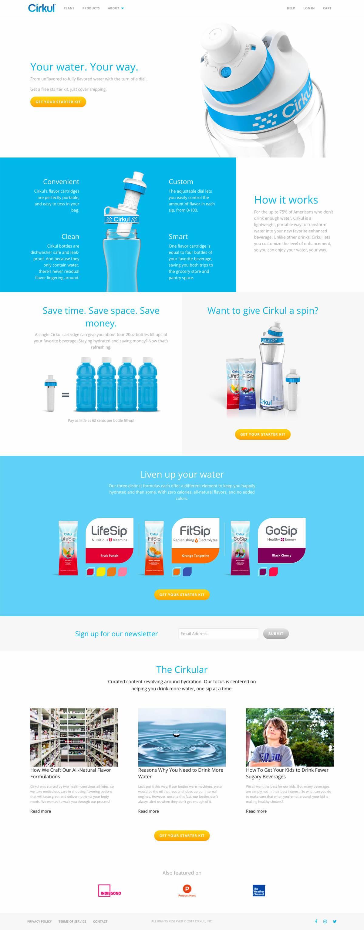 eCommerce website: Cirkul