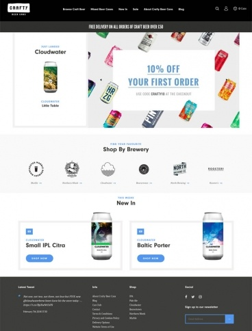 eCommerce website: Crafty Beer Cans