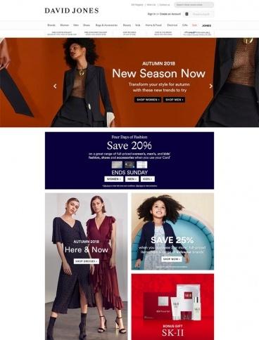 eCommerce website: David Jones