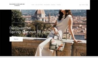 eCommerce website: Gianni Chiarini