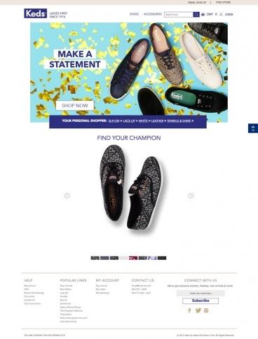 eCommerce website: Keds