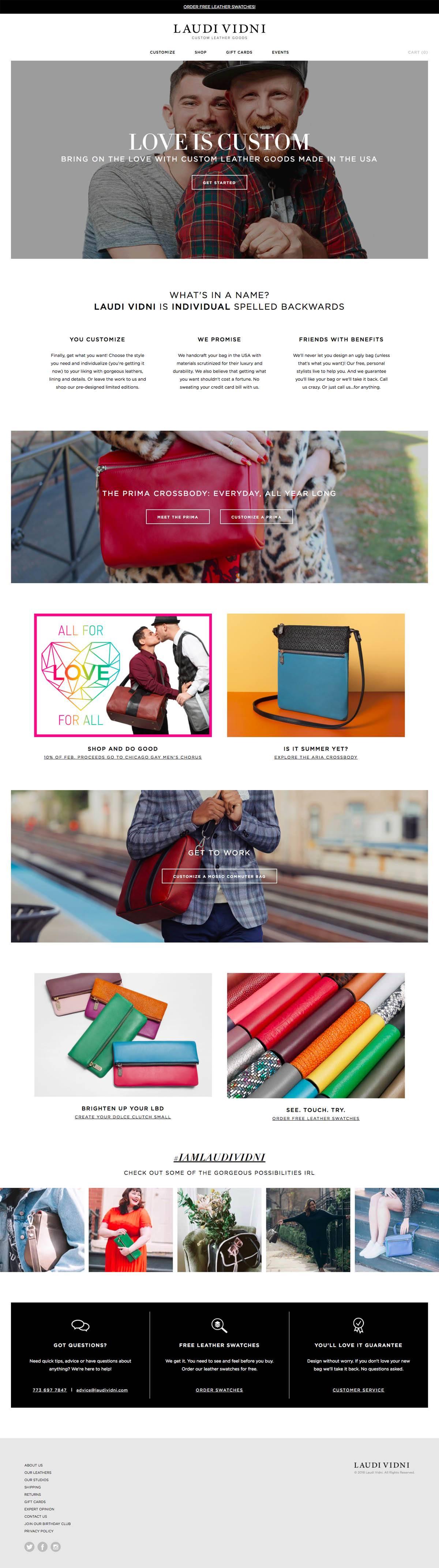 eCommerce website: Laudi Vidni
