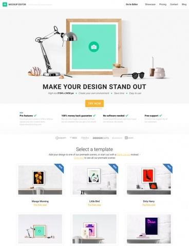 eCommerce website: Mockup Editor
